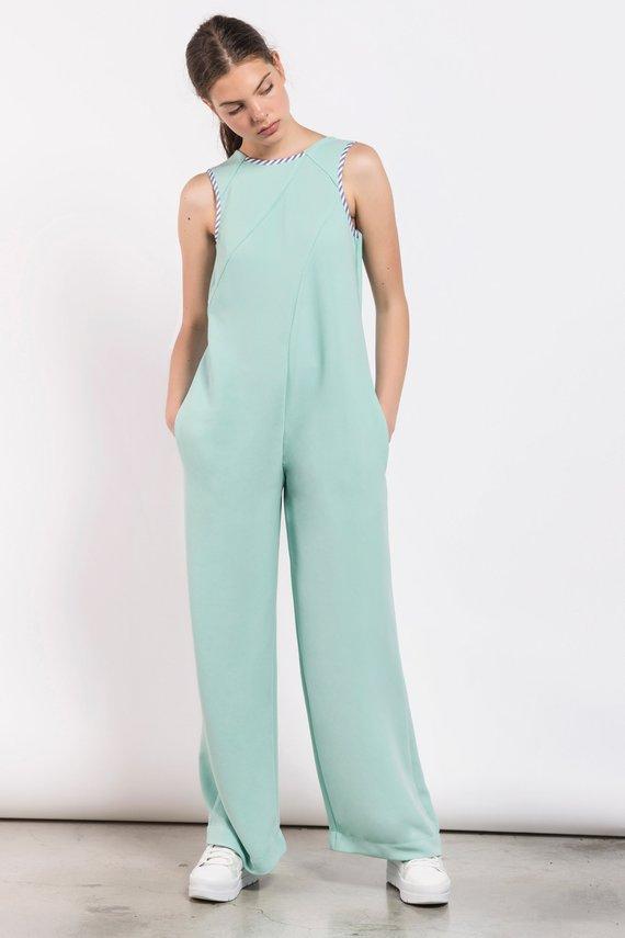 7e6f5686503 Jumpsuit In Mint Color - ALLSEAMS