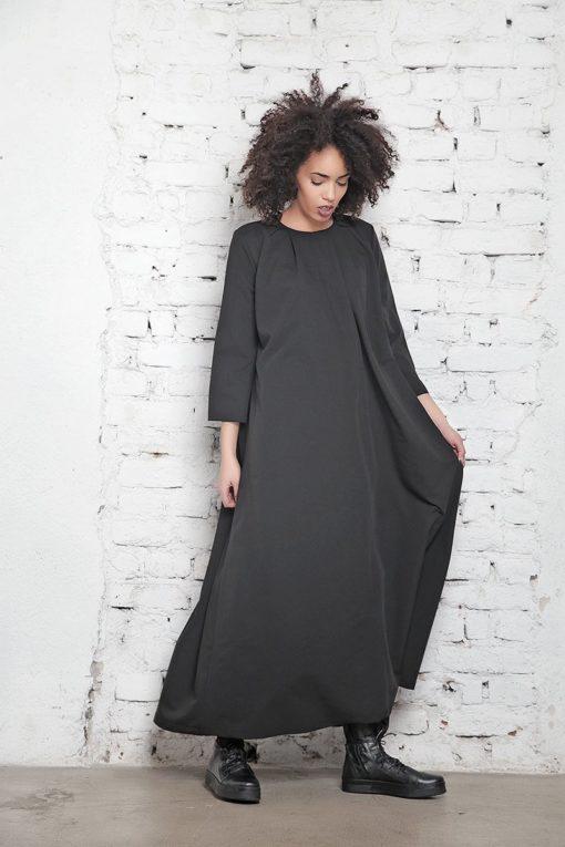 Plus Size Dress, Oversized Dress, Plus Size Gown, Maxi Tunic Dress, Black Dress, Boho Maxi Dress, Loose Dress, Gown Dress,Asymmetrical Dress