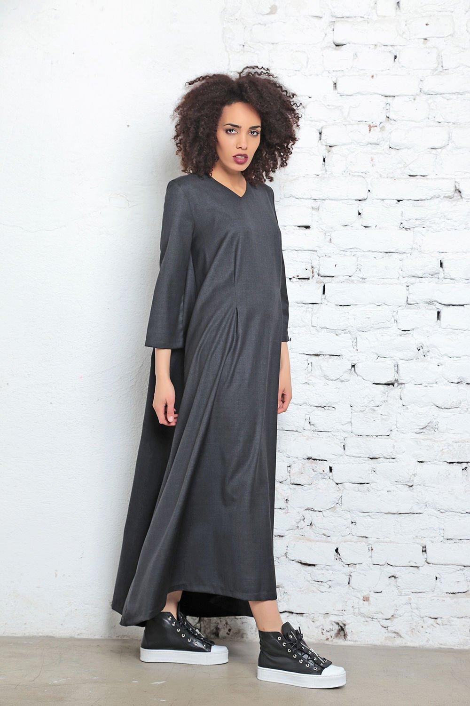 eddff7b297c Black Kaftan Dress - ALLSEAMS