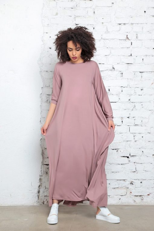 Maxi Dress, Abaya, Plus Size Clothing, Kaftan Dress, Caftan Dress, Boho Dress, Cape Dress, Funky Dress, Women Dress, Blush Pink Maxi Dress