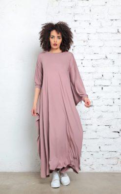 Maxi Dress, Abaya, Plus Size Clothing, Kaftan Dress, Caftan Dress, Boho Dress, Cape Dress, Funky Dress, Women Dress, Blush Pink Maxi Dress