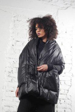 Avant Garde Coat, Cape Coat, Steampunk Clothing, Black Coat, Womens Jacket, Black Cape, Winter Coat, Maxi Jacket, Minimalist Coat,