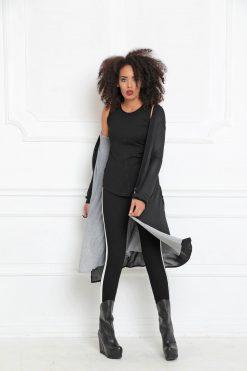 Women Black Cardigan, Black Tunic, Avant Garde Clothing, Tunic Cardigan, Maxi Cardigan, Extravagant Tunic, Oversized Cardigan,A-3015