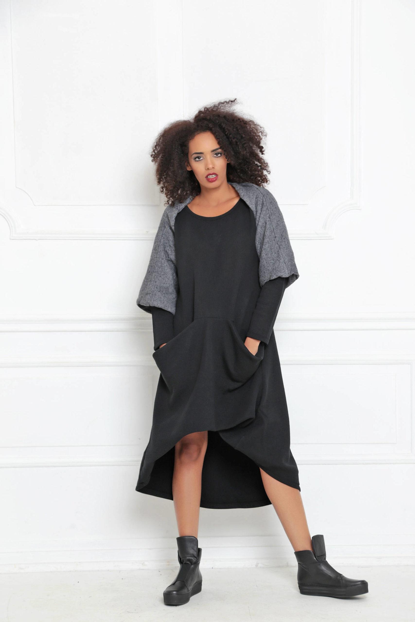 Longsleeve Dress With Pockets Allseams