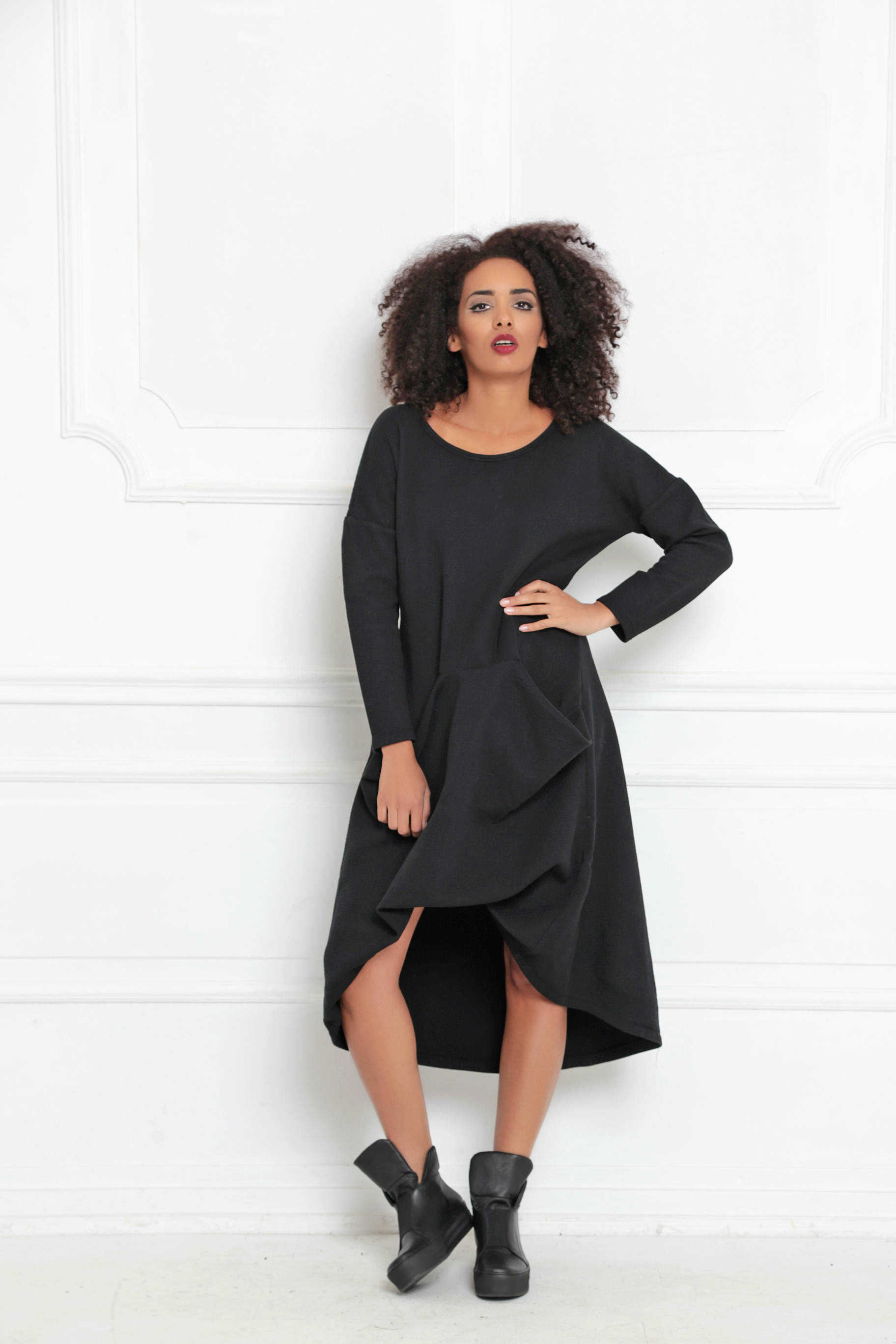 d6c7aa36651 Longsleeve Dress With Pockets - ALLSEAMS
