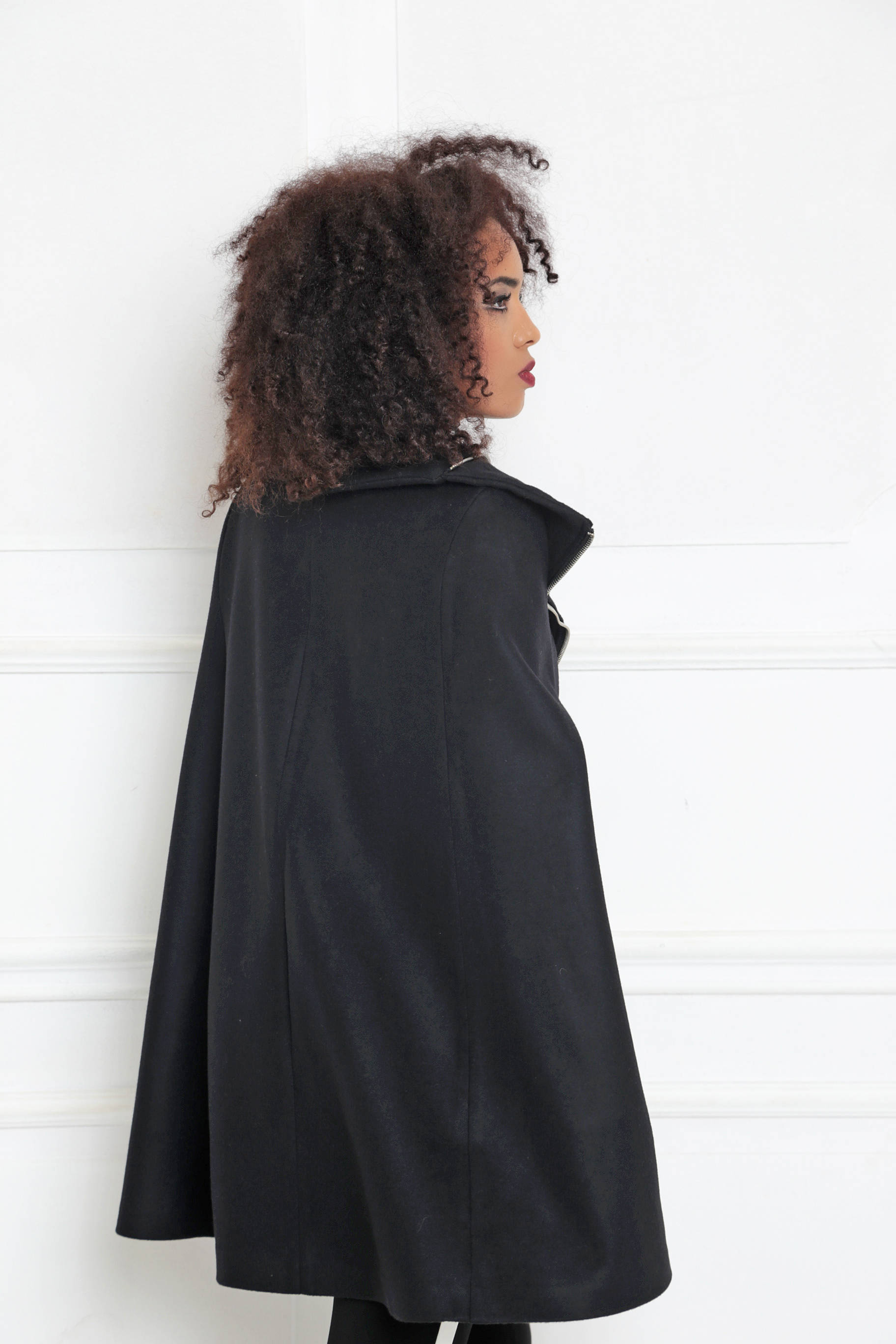 d4a80efb43c Womens Cape Coat  Black Poncho Cape  Plus Size Goth Coat  Winter Cape Coat