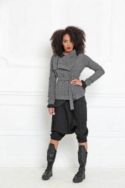 Wool Coat, Women Coat, Wrap Coat, Gray Coat, Bohemian Clothing, Warm Outfit, Women Jacket, Fall Clothing, Warm Coat, Long Sleeve, A3040