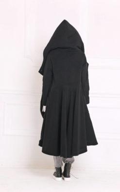 Winter Coat, Trendy Plus Size, Long Coat, Women Coat, Wool Coat, Hooded Coat, Maxi Coat, Cashmere Coat, Black Coat, Women Hoodie,Long Jacket