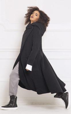 Cloak Coat In Black