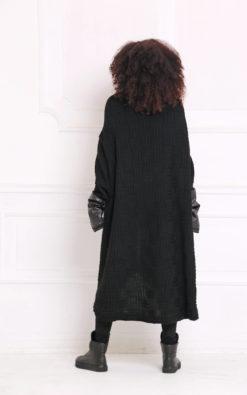 Black Cardigan, Plus Size Clothing, Gothic Clothing, Oversized Coat, Women Poncho, Maxi Cardigan, Goth Women Cardigan, Loose Knit Cardigan