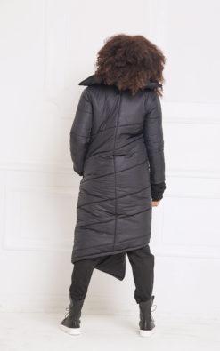 Asymmetric Jacket, Black Jacket, Winter Jacket, Maxi Jacket, Long Sleeve Jacket, Warm Jacket, Plus Size Clothing, Oversized Jacket, A3058