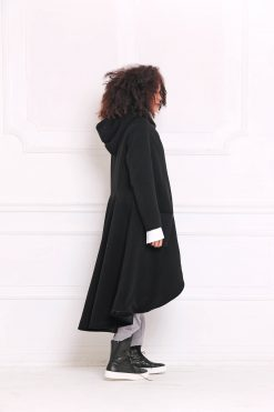 Winter Coat, Trendy Plus Size, Long Coat, Women Coat, Wool Coat, Hooded Coat, Maxi Coat, Cashmere Coat, Black Coat, Women Hoodie,Long Jacket