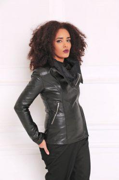 Black Leather Coat, Black Jacket, Women Coat, Winter Jacket, Gothic Clothing, Maxi Coat, Women Jacket, Warm Jacket, Long Coat, A3066