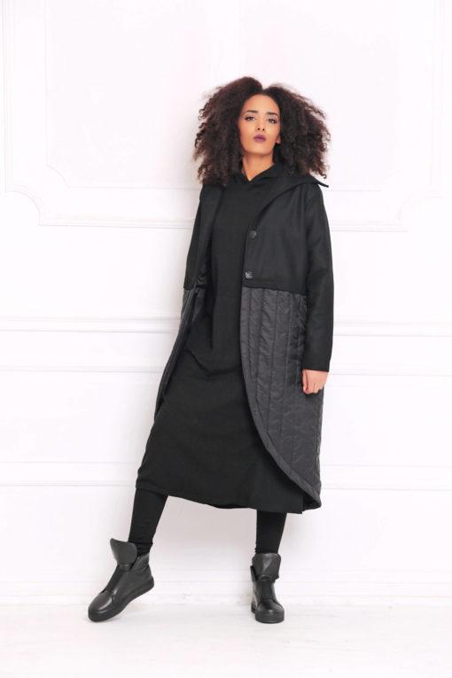Women Coat, Black Coat, Maxi Coat, Winter Clothing, Gothic Coat, Warm Coat, Trendy Plus Size Clothing, Oversized Coat, Bohemian Coat, A3070