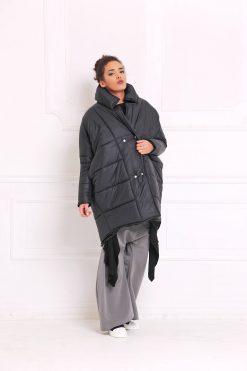 Women Jacket, Black Jacket, Winter Jacket, Warm Jacket, Winter Clothing, Maxi Jacket, Long Sleeved Jacket, Loose Jacket, A3050