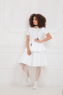 White Dress, White Maxi Dress, White Summer Dress, Women Tulle Dress, Plus Size Clothing,  Boho Bridesmaid Dress, Oversized Dress,Long Dress