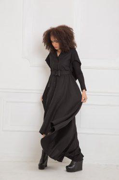 Black Maxi Dress, Linen Dress, Linen Clothing, Hooded Dress, Black Long Dress, Plus Size Maxi Dress, Linen Maxi Dress, Gothic Clothing
