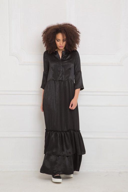Button Up Maxi Dress Allseams