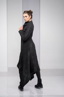 Winter Coat, Black Coat, Wool Clothing, Plus Size Coat, Asymmetric Coat, Long Sleeve Coat, Knitted Coat, Warm Coat, Winter Clothing, Boho