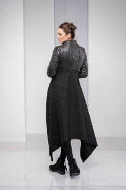 Winter Coat, Black Coat, Winter Jacket, Plus Size Clothing, Asymmetric Jacket, Wool Coat, Warm Coat, Long Sleeve Jacket, Plus Size Coat