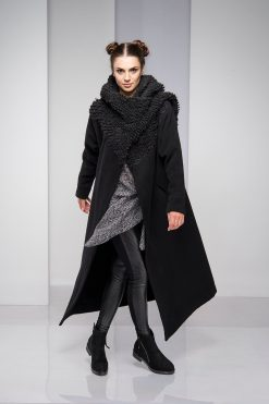 Winter Coat, Cashmere Coat, Black Coat, Plus Size Clothing, Hooded Coat, Wool Coat, Long Coat, Wool Clothing, Warm Coat, Maxi Coat, Gothic