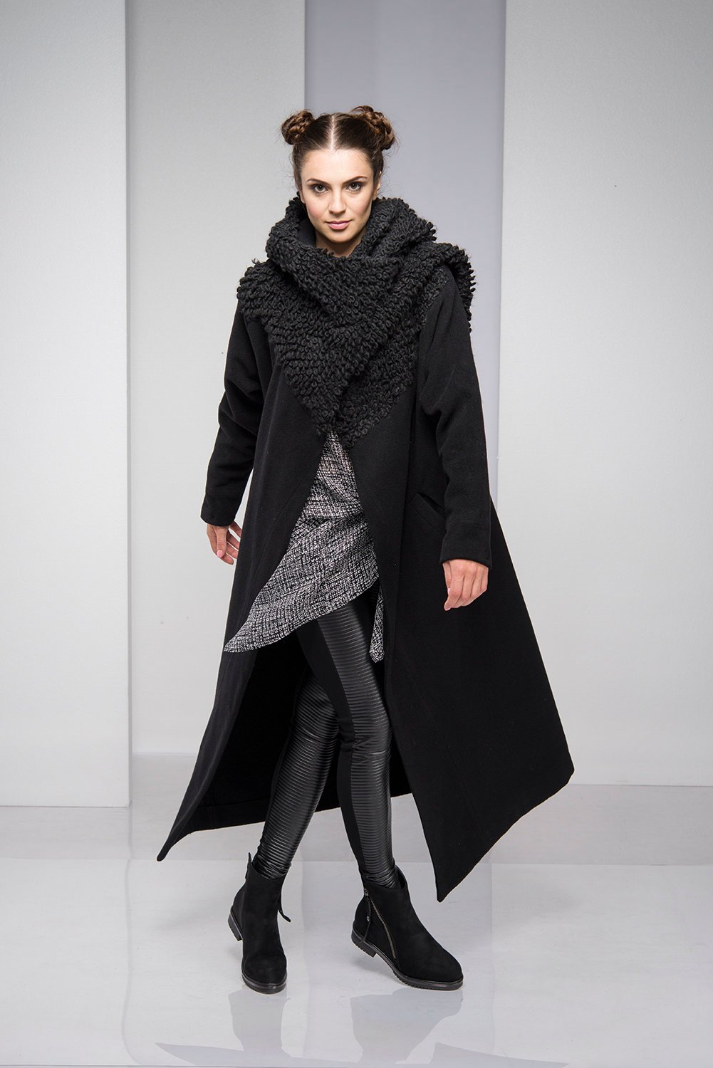 882079bffeb Cashmere Coat With Oversized Cowl - ALLSEAMS