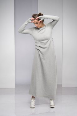 Dress For Women, Gray Dress, Maxi Dress, Plus Size Clothing, Bohemian Dress, Minimalist Clothing, Plus Size Maxi Dress, Long Dress,Oversized
