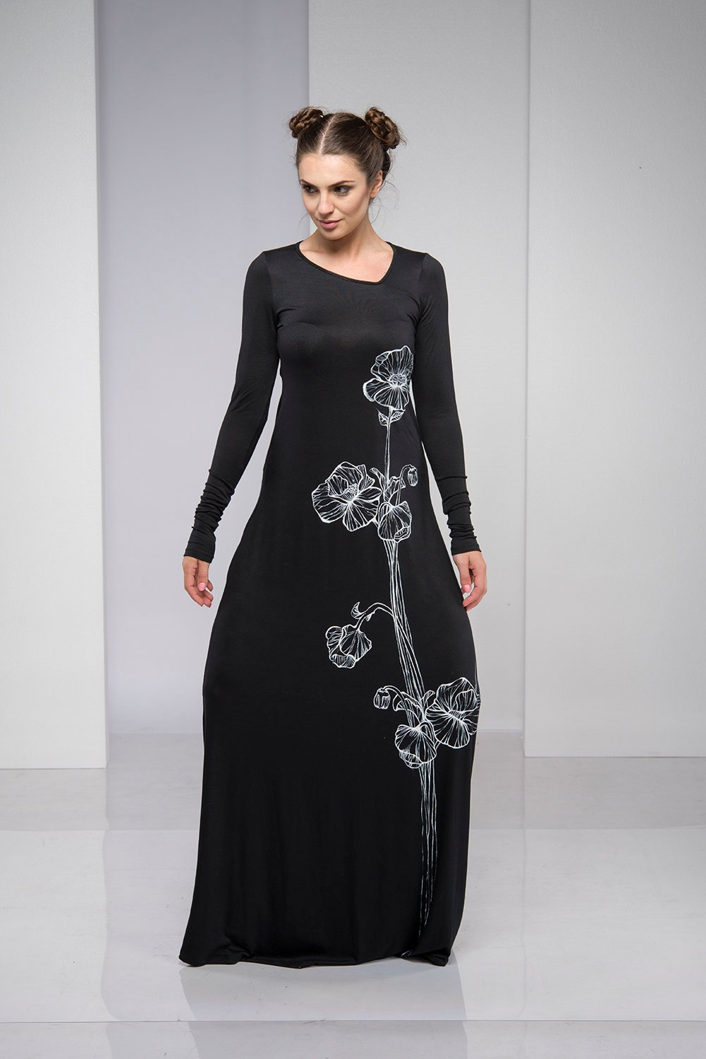 Hand-painted Maxi Dress