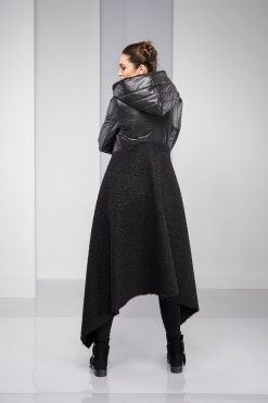 Winter Coat, Black Coat, Winter Jacket, Plus Size Clothing, Asymmetric Jacket, Wool Coat, Warm Coat, Long Sleeve Jacket, Plus Size Coat