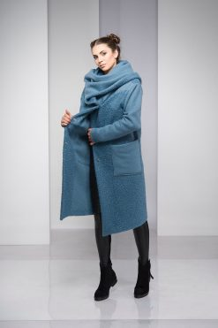 Winter Coat, Blue Coat, Coat For Women, Hooded Coat, Plus Size Clothing, Oversized Coat, Long Coat, Bohemian Clothing, Plus Size Coat