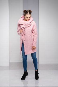 Winter Coat, Coat For Women, Plus Size Clothing, Pink Coat, Hooded Coat, Plus Size Coat, Wool Clothing, Oversized Coat, Bohemian Clothing
