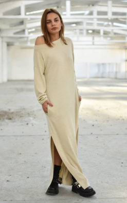 Maxi Dress With Boat Neckline (3)