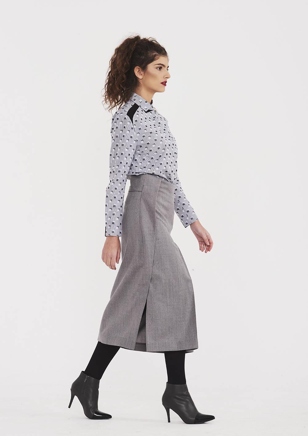 d21a88b3174 High Waist Skirt In Gray - ALLSEAMS
