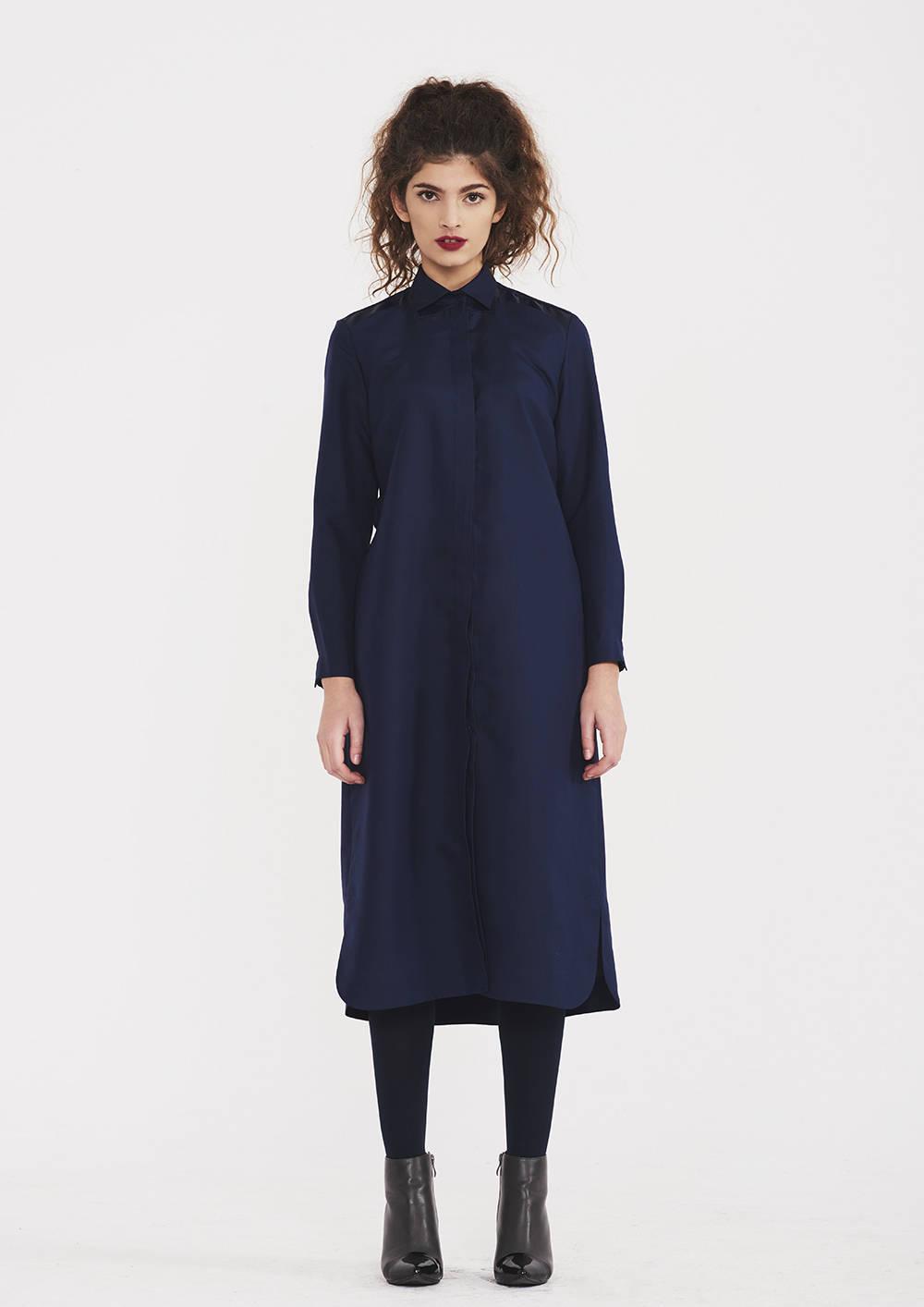Silk Shirt Dress With Belt Allseams