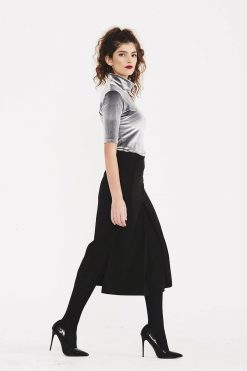Wool Skirt, Women Skirt, High Waist Skirt, Midi Skirt, Office Skirt, Minimalist Clothing, Slit Skirt, Classic Skirt, Casual Skirt