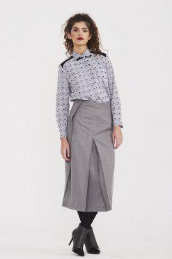 Wool Skirt, Women Skirt, High Waist Skirt, Midi Skirt, Office Skirt, Minimalist Clothing, Slit Skirt, Classic Skirt, Casual Skirt