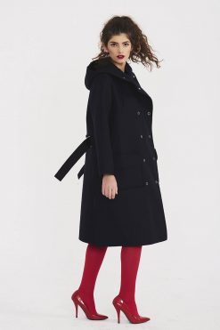 Cashmere Coat, Winter Coat, Plus Size Clothing, Cashmere, Hooded Coat, Maxi Coat, Warm Coat, Women Black Jacket, Minimalist Coat, Boho Coat