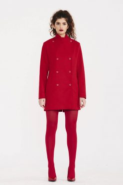 Red Coat, Wool Coat, Cashmere Coat, Women Coat, Red Jacket, Plus Size Clothing, Elegant Coat, Women Red Coat, Formal Coat, Designer Coat