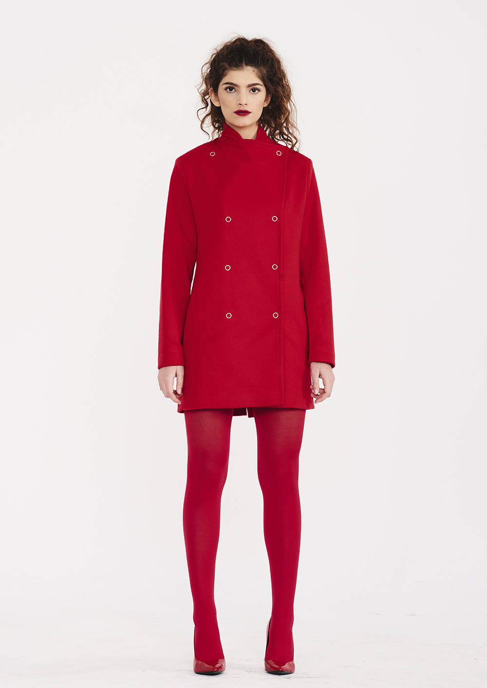 5f1464e9b Red Coat With Buttons