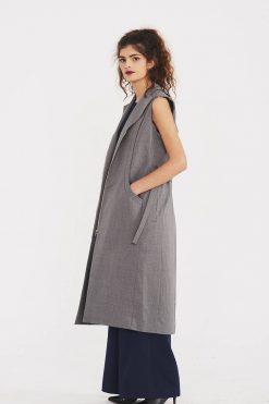 Women Vest, Wool Dress Vest, Women Dress, Sleeveless Dress, Maxi Vest, Loose Vest Dress, Trendy Plus Size Clothing, Minimalist Dress