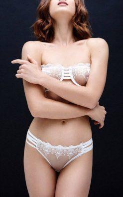 Lolita Lingerie, Sheer Mesh Panties, Erotic Lingerie, See Through Bikini, White Lace Panties, Bridal Lingerie, Women Gift, Cheeky Bikini