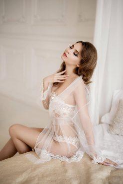 Honeymoon Lingerie, Lace Robe, Lingerie Dress, Womens Nightie, Transparent Lingerie, Boudoir Dress, Sexy Lingerie, Women White Lingerie