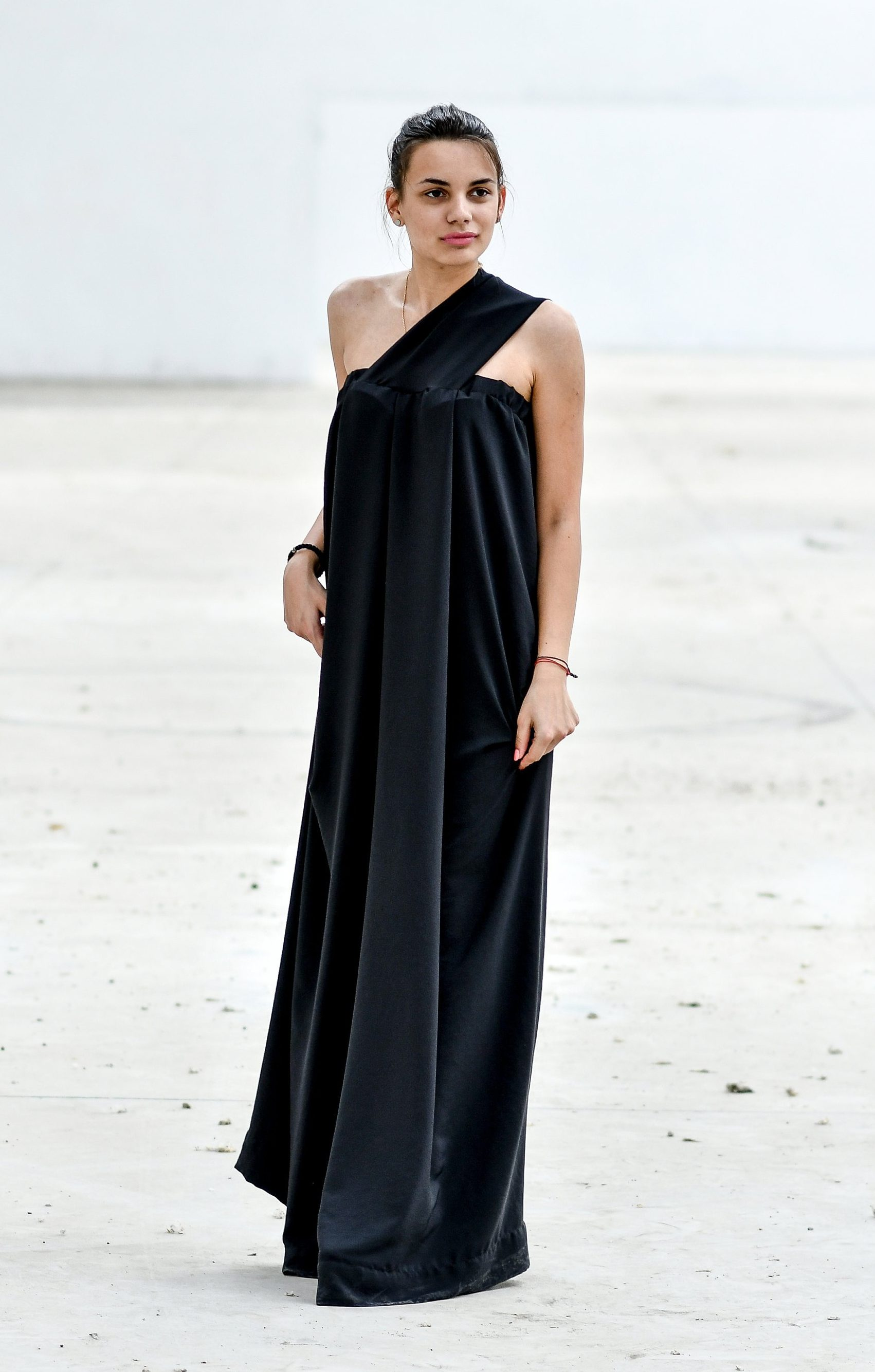 4899e9fb86 Black Maxi Dress, Plus Size Maxi Dress, Plus Size Clothing, Silk Dress,