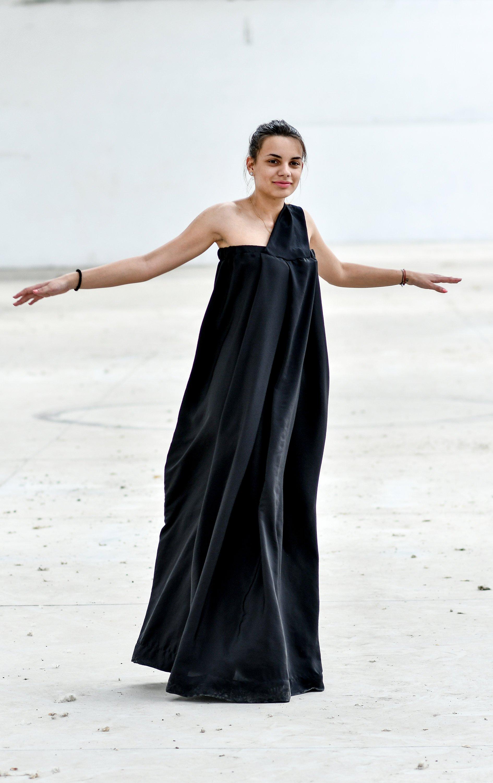 ecf2466e21a Loose Fit Maxi Dress In Black - ALLSEAMS
