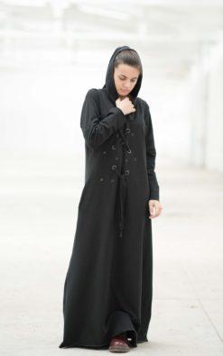Maxi Dress, Black Maxi Dress, Hooded Dress, Plus Size Maxi Dress, Plus Size Clothing, Floor Length Dress, Hoodie Dress, Gothic Clothing