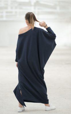 Maxi Dress, Black Maxi Dress, Plus Size Maxi Dress, One Shoulder Dress, Black Kaftan Dress, Women Black Dress, Caftan Dress, Long Maxi Dress