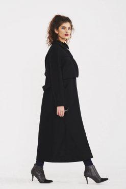 Cashmere Coat, Wool Coat, Black Coat, Maxi Coat, Women Black Jacket, Gothic Clothing, Long Sleeve Coat, Wool Clothing, Plus Size Coat