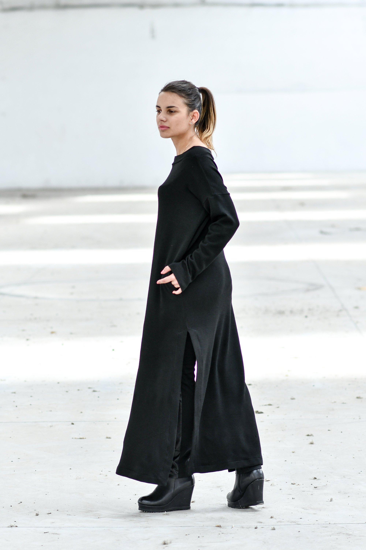 Maxi Dress With Boat Neckline
