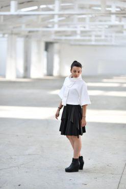 White Top, Plus Size White Top, Women White Polo, Futuristic Clothing, Turtleneck Top, Boho Maxi Top, Elegant Polo, Loose Top