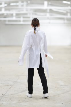 White Shirt, Plus Size Shirt, Plus Size Clothing, Japanese Clothing, High Collar Shirt, White Tunic Shirt, Long Sleeve Shirt, Minimalist